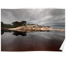 On a Grey Day - Bay of Fires Poster