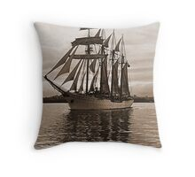 'Esmeralda' leaves Auckland under sail........! Throw Pillow