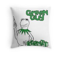 Green Guy Throw Pillow