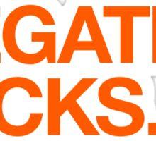 Megatrip Sucks (orange variant) Sticker