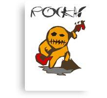rocka! voo doo bass player Canvas Print