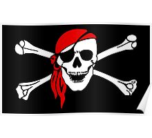 Pirate Party, Pirate, Cap, Skull & Crossbones, Jolly Roger Poster