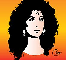 Cher - Moonstruck - Pop Art by wcsmack