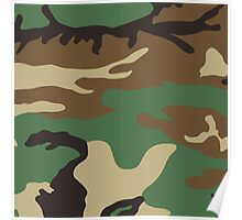 Cool Camouflage Pattern Poster