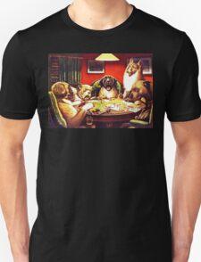 Dogs Playing Poker Vintage postcard Unisex T-Shirt