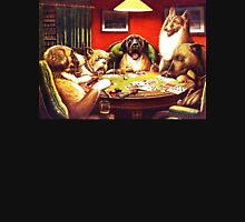 Dogs Playing Poker Vintage postcard T-Shirt
