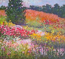 Rose path by Julia Lesnichy