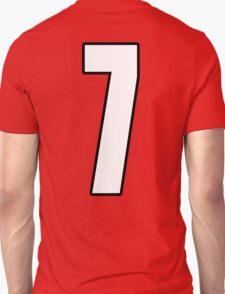 Football, Soccer, 7, Seven, Number Seven, Lucky, Team, Number, Red, Devils T-Shirt