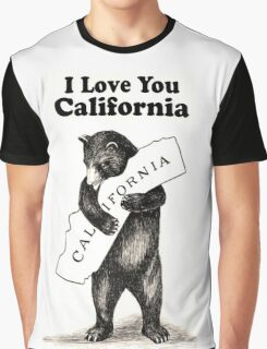 Vintage I Love You California Graphic T-Shirt