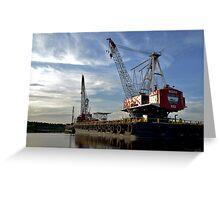 Sunset Crane Greeting Card