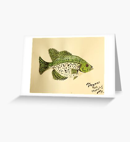 Crappie Greeting Card