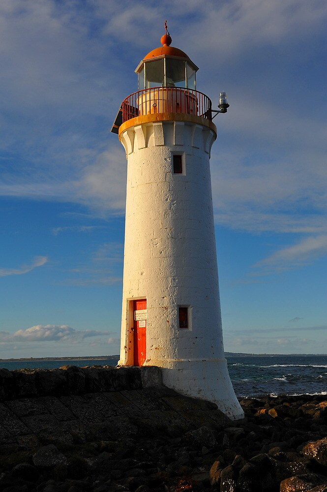 Griffiths Island Lighthouse. Port Fairy, Victoria, Australia. (1859) by Ralph de Zilva