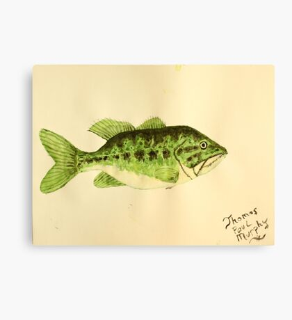 Large Mouth Bass Canvas Print