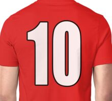 Football, Soccer, 10, Ten, Tenth, Number Ten, Team, Number, Red, Devils Unisex T-Shirt