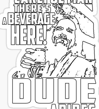Big Lebowski - Dude Abides Sticker