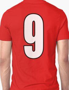 Football, Soccer, 9, Nine, Ninth, Number Nine, Sport, Team, Number, Red, Devils Unisex T-Shirt
