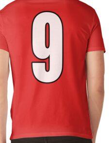 Football, Soccer, 9, Nine, Ninth, Number Nine, Sport, Team, Number, Red, Devils Mens V-Neck T-Shirt