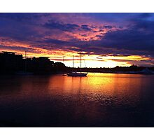 Glebe Point sunset Photographic Print