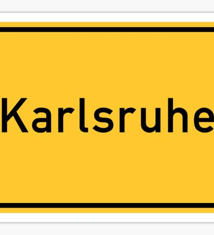 Karlsruhe, Germany Road Sign Sticker