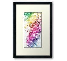 Colorful Retro Floral Pattern Framed Print