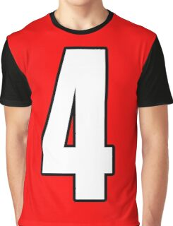 Football, Soccer, 4, Four, Fourth, Number Four, Sport, Team, Number, Red, Devils Graphic T-Shirt