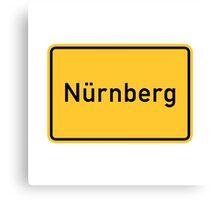 Nuremberg, Germany Road Sign Canvas Print
