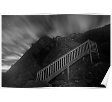 Stairway to the Stars B&W Poster