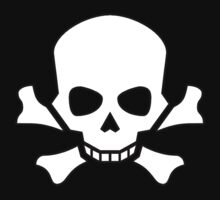 Skull and Crossbones, Horror, Halloween, Pirate, Death, Poison, White by TOM HILL - Designer