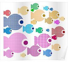 Baby Doll Rainbow fishes Poster