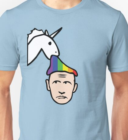 Unicorn Vomits Rainbow on Putin Unisex T-Shirt