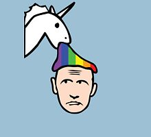 Unicorn Vomits Rainbow on Putin Unisex T-Shirt