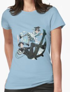 Ciel in Wonderland - Kuroshitsuji  Womens Fitted T-Shirt