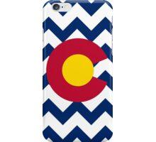 Chevron Colorado Flag Pattern iPhone Case/Skin