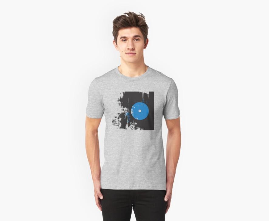 Faded Vinyl Blue by modernistdesign