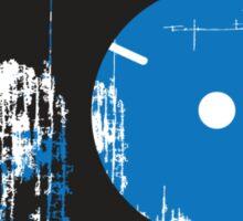 Faded Vinyl Blue Sticker