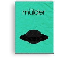 Fox Mulder minimalist poster Canvas Print