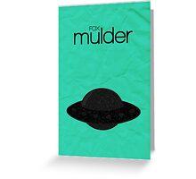 Fox Mulder minimalist poster Greeting Card