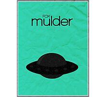 Fox Mulder minimalist poster Photographic Print