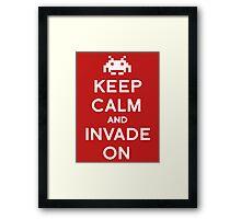 Retro Keep Calm and Invade On Framed Print