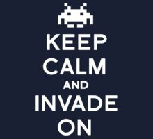 Retro Keep Calm and Invade On One Piece - Long Sleeve