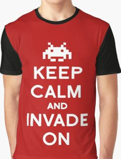 Retro Keep Calm and Invade On Graphic T-Shirt