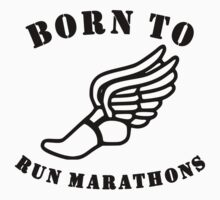 Born To Run Marathons One Piece - Long Sleeve