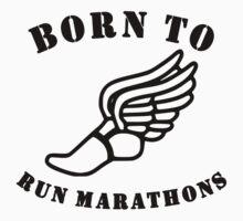 Born To Run Marathons Kids Tee