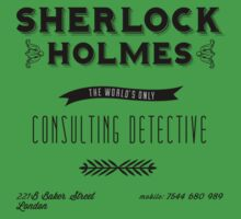 Sherlock Holmes' Business Card One Piece - Short Sleeve