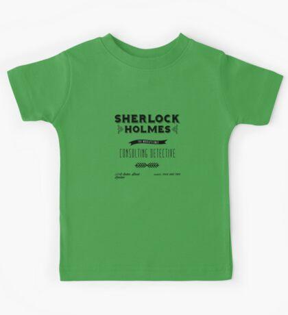 Sherlock Holmes' Business Card Kids Tee