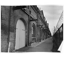 Old factory, exterior, B&W  Poster