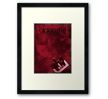 Cigarette Smoking Man minimalist poster  Framed Print