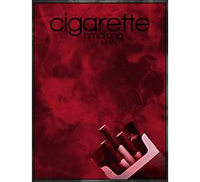 Cigarette Smoking Man minimalist poster  Photographic Print