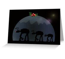 Christmas pud walk Greeting Card