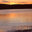 Layers of Gold and Yellow Water, Monksville Sunset by Jane Neill-Hancock